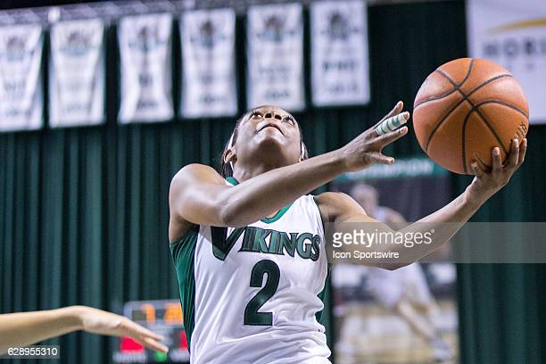 Cleveland State Vikings F Ashanti Abshaw drives to the basket during the third quarter of the NCAA Women's Basketball game between the Notre Dame...