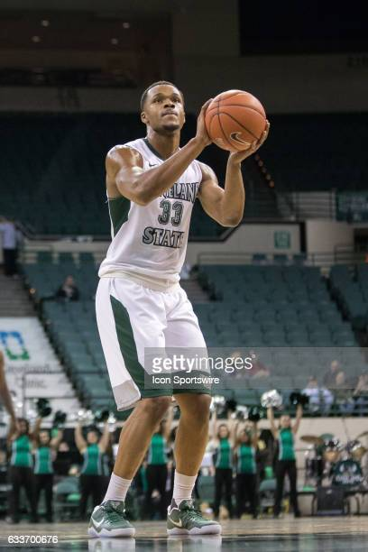 Cleveland State Vikings F Demonte Flannigan at the foul line during the first half of the men's college basketball game between the Detroit Titans...