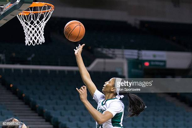 Cleveland State Vikings F Shadae Bosley shoots during the third quarter of the NCAA Women's Basketball game between the Notre Dame Falcons and...
