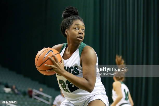 Cleveland State Vikings forward Anyia Pride pulls in a rebound during the second quarter of the women's college basketball game between the Oakland...