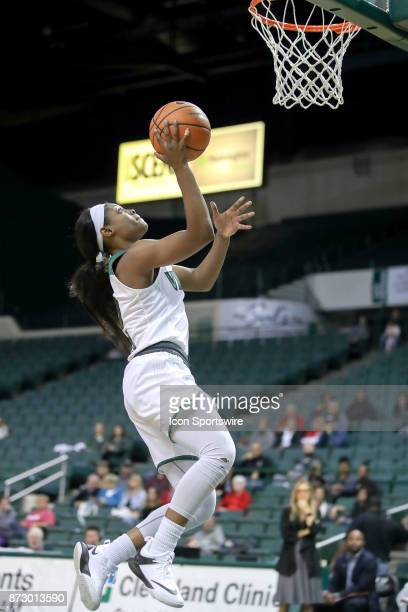 Cleveland State Vikings forward Ashanti Abshaw scores with a layup during the fourth quarter of the women's college basketball game between the Ball...