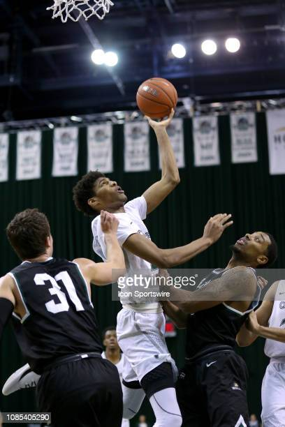 Cleveland State Vikings forward Dibaji Walker shoots during the second half of the college basketball game between the Wright State Raiders and...
