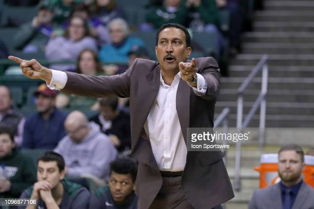 Cleveland State Vikings head coach Dennis Felton on the sideline during the second half of the college basketball game between the Milwaukee Panthers...