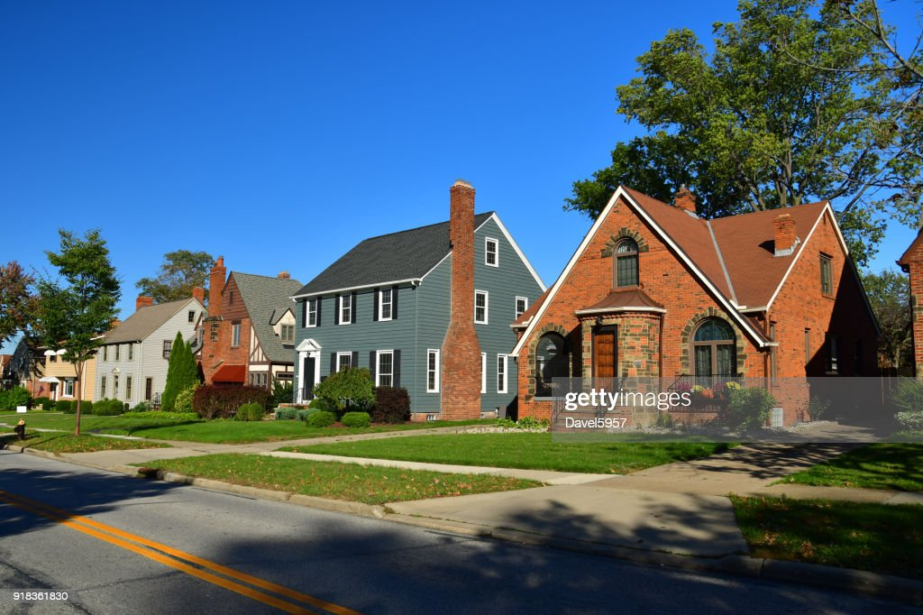 Cleveland Suburb Houses : Stock Photo