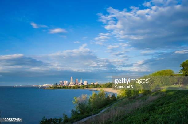 cleveland summer - cleveland ohio stock pictures, royalty-free photos & images