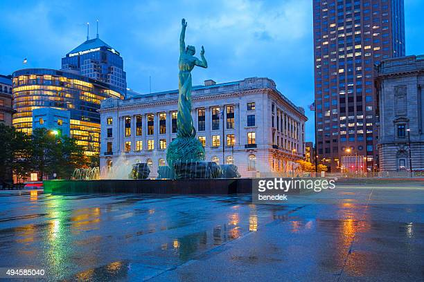 cleveland the mall ohio usa - cleveland ohio stock photos and pictures