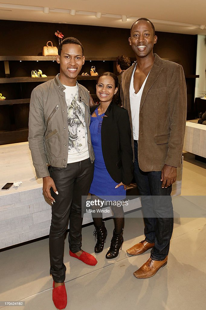 Cleveland Wright and Alfonso Hicks attend designer Barbara Bui celebrates first West Coast visit at her Rodeo Drive boutique on June 12, 2013 in Beverly Hills, California.