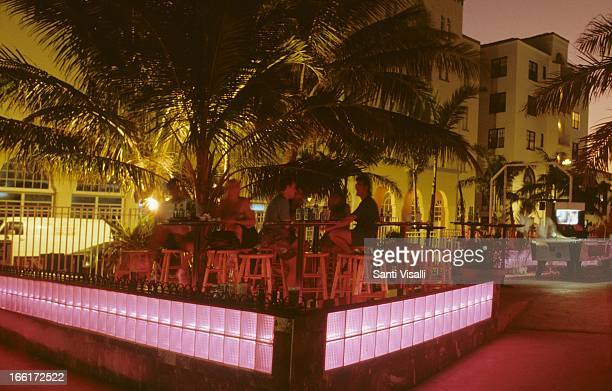 Clevelander Bar at night Ocean Drive on October 4 1992 in Miami Florida Photo by Santi Visalli/Getty Images}