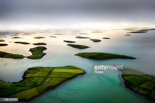 clew bay - island stock pictures, royalty-free photos & images