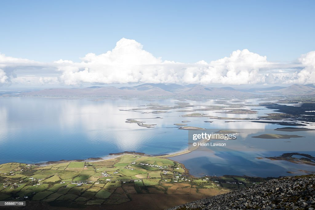 Clew Bay view from Croagh Patrick : Stock Photo