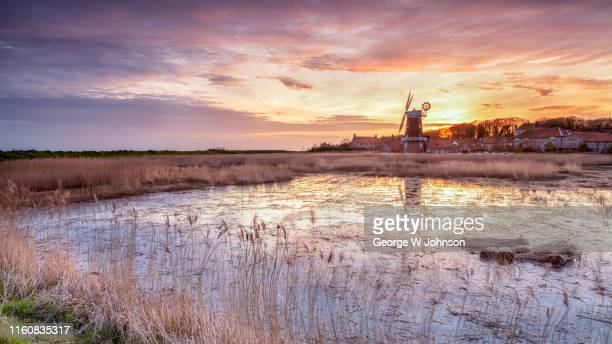 cley windmill - rural scene stock pictures, royalty-free photos & images
