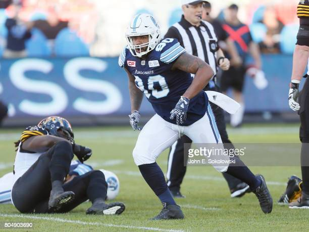 Cleyon Laing of the Toronto Argonauts during a CFL game at BMO Field on June 25 2017 in Toronto Ontario Canada Toronto defeated Hamilton 3215