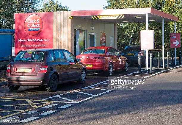 Click and Collect facility at Tesco superstore Martlesham Suffolk England