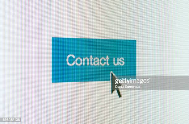Clicking on Contact Us web button on website