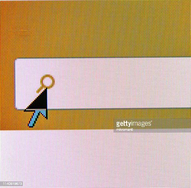 clicking on serch web button on website - magnifying glass icon stock photos and pictures