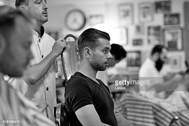 Cliente en de barbería