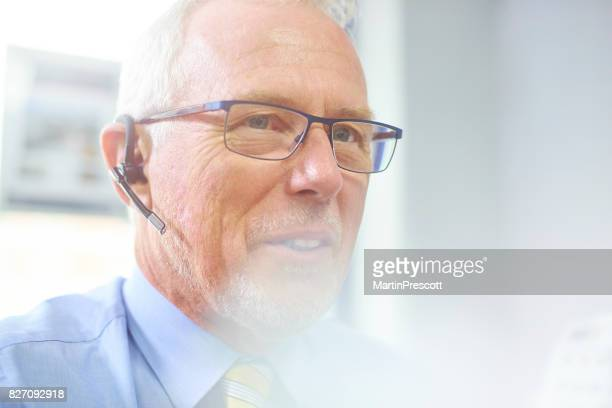 Client call using headset