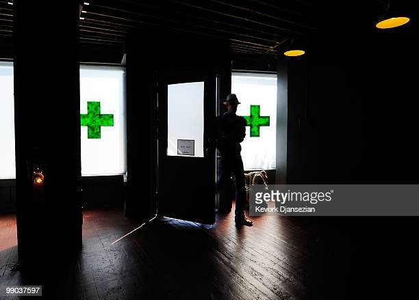 A client enters Sunset Junction medical marijuana dispensary on May 11 2010 in Los Angeles California The dispensary is one 25 plaintiffs in a...