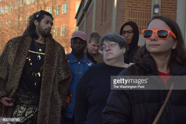 Clients including left to right Jay Diamonds Marvin Antonio Ben Olsson Leslie Shafer AB and Silvia Buglio stand in line for medical marijuana at...