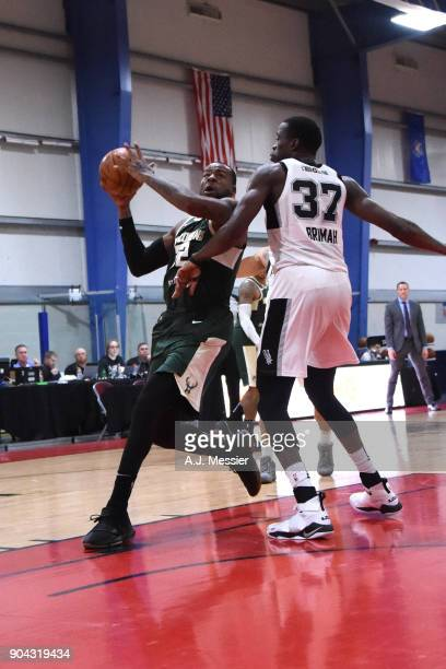 Cliff Alexander of the Wisconsin Herd drives to the basket against the Austin Spurs during the GLeague Showcase on January 12 2018 at the Hershey...