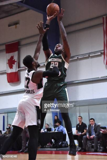 Cliff Alexander of the Wisconsin Herd shoots the ball against the Austin Spurs during the GLeauge Showcase on January 12 2018 at the Hershey Centre...