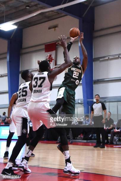 Cliff Alexander of the Wisconsin Herd shoots the ball against the Austin Spurs during the GLeague Showcase on January 12 2018 at the Hershey Centre...