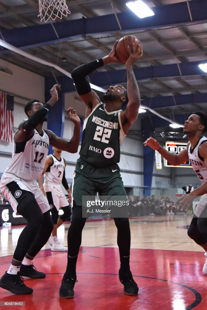 Cliff Alexander #22 of the Wisconsin Herd shoots the ball against the Austin Spurs during the G-League Showcase on January 12, 2018 at the Hershey Centre in Mississauga, Ontario Canada.
