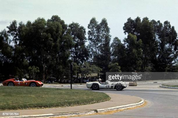 Cliff Allison, Masten Gregory, Ferrari 250 Testa Rossa, Maserati Birdcage Tipo 61, 1000 Km of Buenos Aires, Buenos Aires, 21 January 1960.