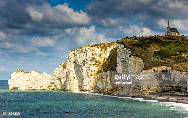Cliff and coastline, Normandy, France