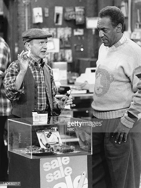 """Cliff and Jake"""" Episode 24 -- Pictured: Red Buttons as Jake Bennett, Bill Cosby as Dr. Heathcliff 'Cliff' Huxtable -- Photo by: NBCU Photo Bank"""