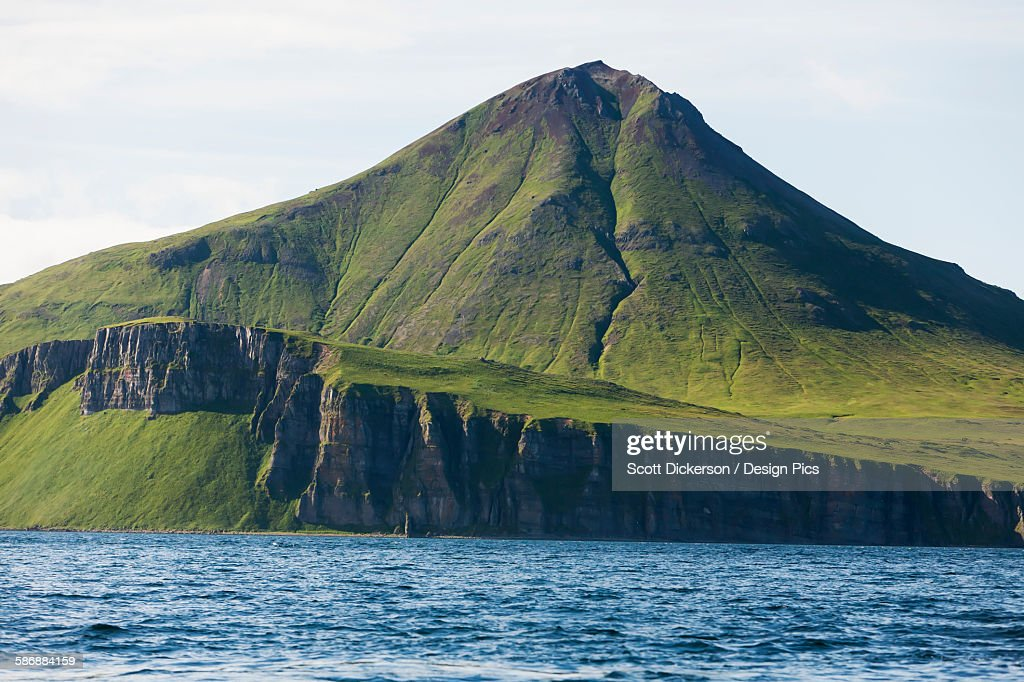 Cliff And Mountain Along The Coastline : Stock Photo