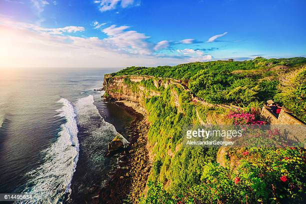 Cliff at Uluwatu Temple on Sunset in Bali, Indonesia