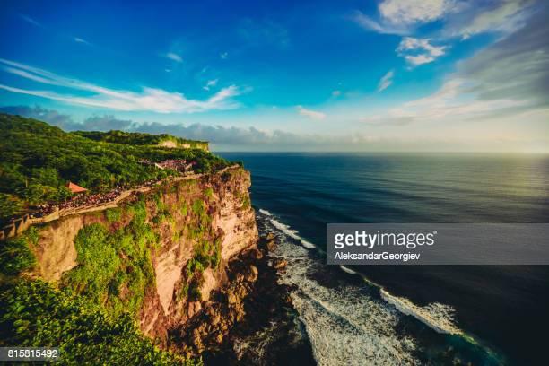 Cliff at Uluwatu Temple on Sunset in Bali, Indonesia