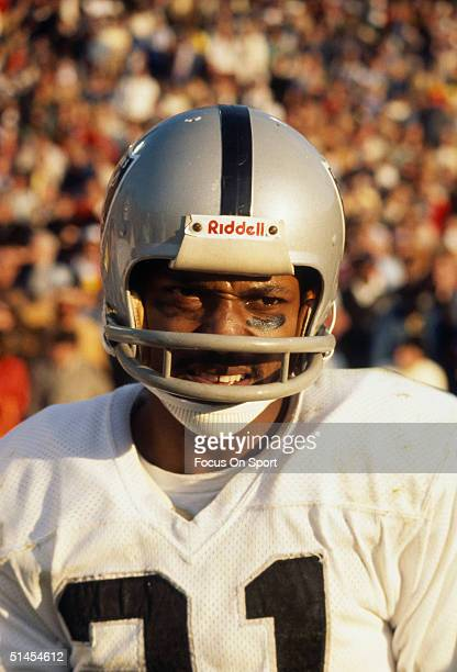 Cliff Branch wide receiver for the Oakland Raiders poses for the camera during Super Bowl XI against the Minnesota Vikings at the Rose Bowl on...