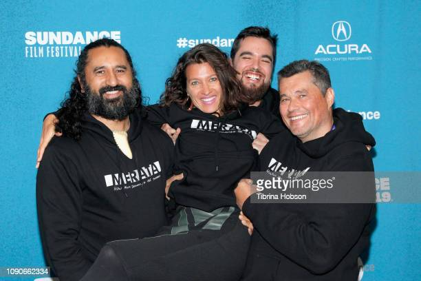 Cliff Curtis Chelsea Winstanley Heperi Mita and Rafer Rautjoki attend the MERATA How Mum Decolonised The Screen Premiere during the 2019 Sundance...