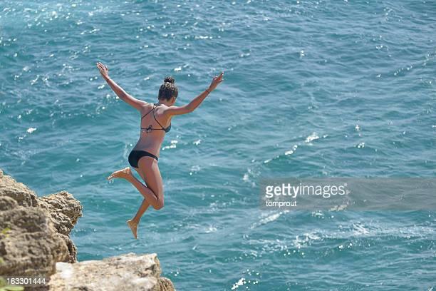 Cliff Diving in Kauai, Hawaii USA