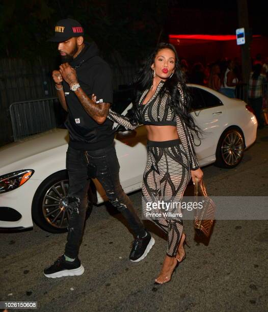 Cliff Dixon and Erica Mena attends the Labor Day Weekend Celebration at Compound on September 2 2018 in Atlanta Georgia