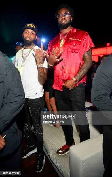 Cliff Dixon and John Wall attend the Labor Day Weekend Clebration at Compound on September 2 2018 in Atlanta Georgia