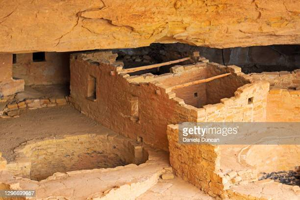 cliff dwellings architectural features - pueblo colorado stock pictures, royalty-free photos & images