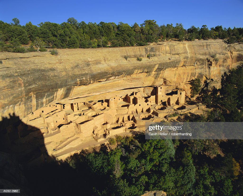 Cliff dwellings, cliff palace, Mesa Verde, Mesa Verde National Park, Colorado, USA, North America : Stockfoto