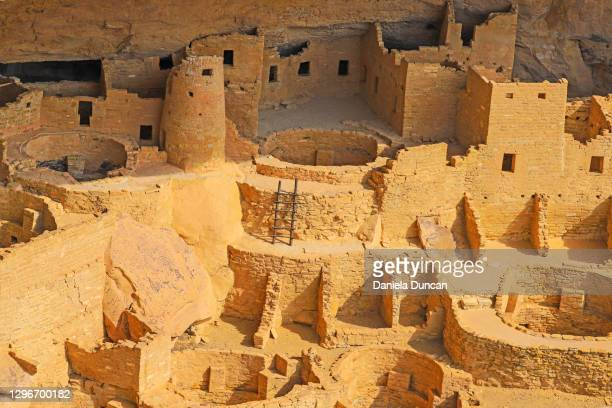 cliff dwellings close-up - pueblo colorado stock pictures, royalty-free photos & images