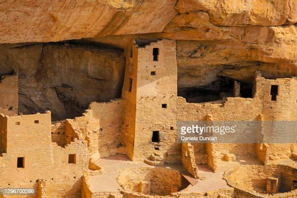 cliff dwellings close-up - cliff dwelling stock pictures, royalty-free photos & images