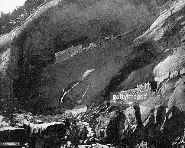Cliff Dwellings, Mancos Canyon, Arizona, USA, 1893. Illustration from Portfolio of Photographs of Famous Cities, Scenes and Paintings, .
