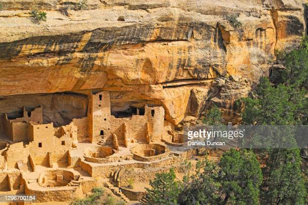 cliff dwellings - anasazi ruins stock pictures, royalty-free photos & images