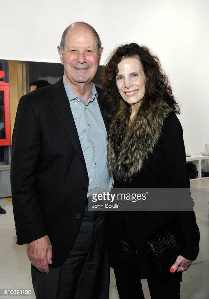 Cliff Einstein and Mandy Einstein at OPENING NIGHT   ART LOS ANGELES CONTEMPORARY 9TH EDITION at Barkar Hangar on January 25 2018 in Santa Monica...