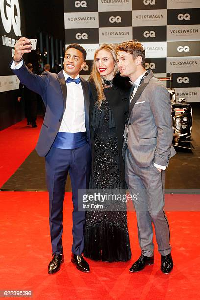 Cliff Goncalo GQ Gentleman 2016 model Alena Gerber and model Simon Lohmeyer attend the GQ Men of the year Award 2016 at Komische Oper on November 10...