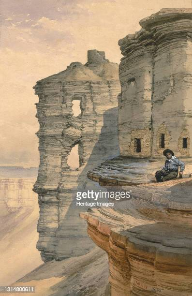 Cliff Houses on the Rio Mancos, Colorado, 1878. Artist William Henry Holmes.