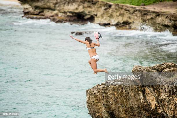 Cliff Jumping in Hawaii with Snorkeling Gear