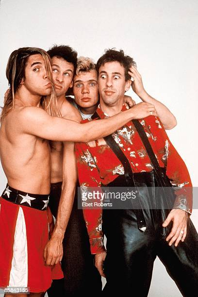UNITED STATES OCTOBER 30 RED HOT CHILI PEPPERS Cliff MARTINEZ and FLEA and Hillel SLOVAK and Anthony KIEDIS LR Anthony Kiedis Cliff Martinez Flea...