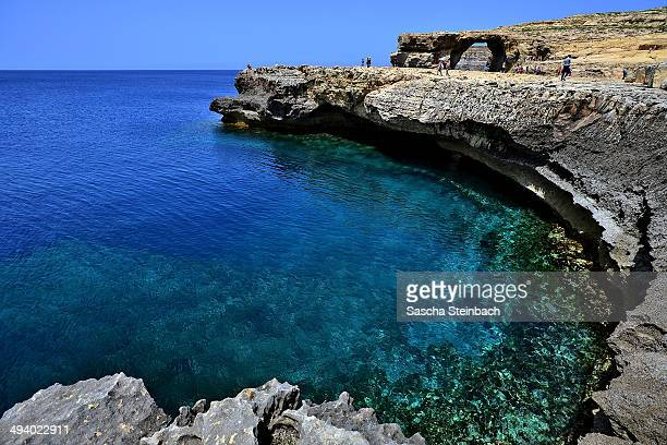 A cliff near the natural arch 'The Azure Window' is seen at Dwejra Bay on May 20 2014 in Dwejra/Gozo Malta